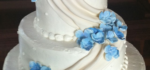 Fondant Draping Wedding Cake