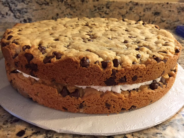 Double Layer Cookie Cake