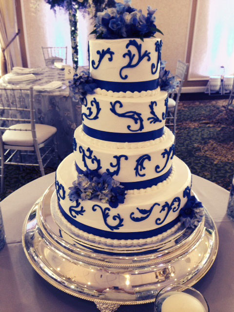 Simple Royal Blue Wedding Cakes Our Wedding Cake Simple Tw