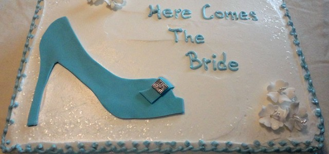 Stiletto Shoe Bridal Shower Cake