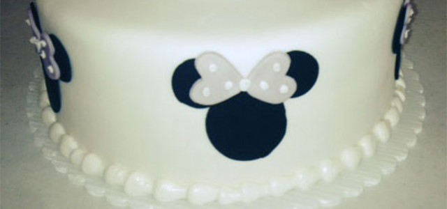 Purple Minnie Mouse Children's Birthday Cake