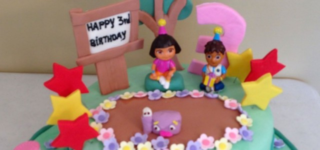 Dora the Explorer Children's Birthday Cake